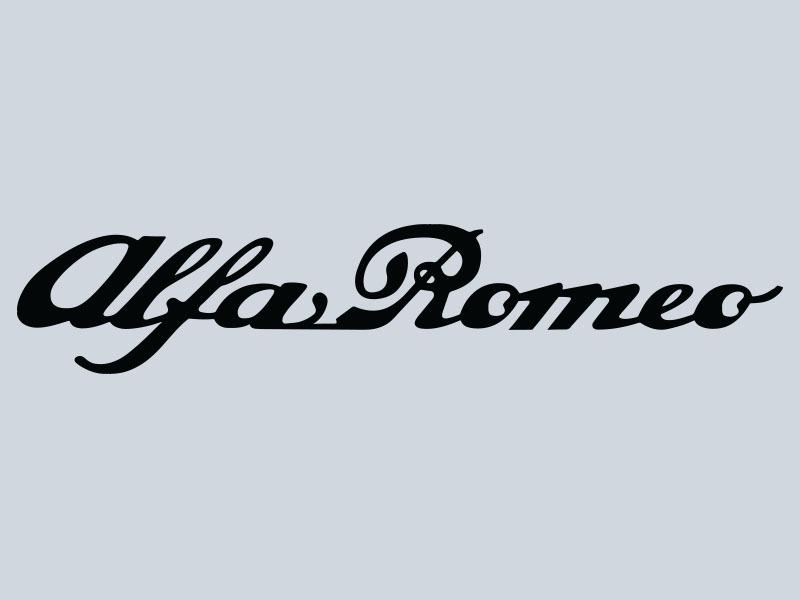Alfa Romeo Script Vinyl Decal Lettering Direct