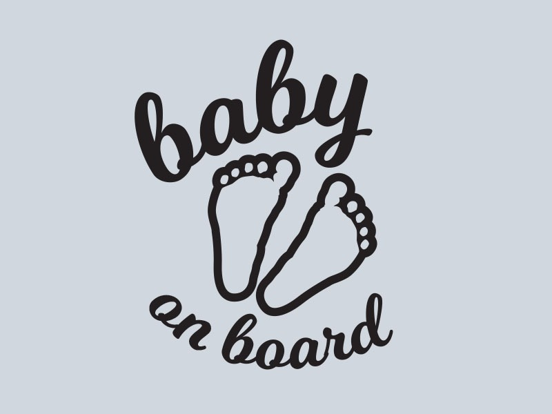 baby on board window sticker