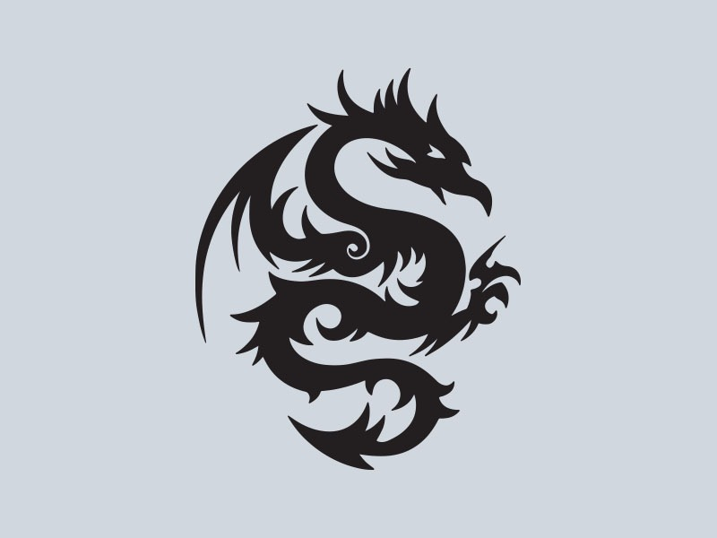 tribal dragon car stickers