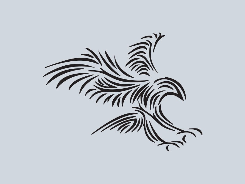 tribal eagle car stickers
