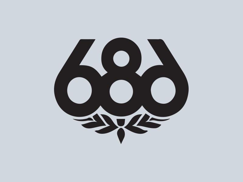 686 snowboards vinyl sticker