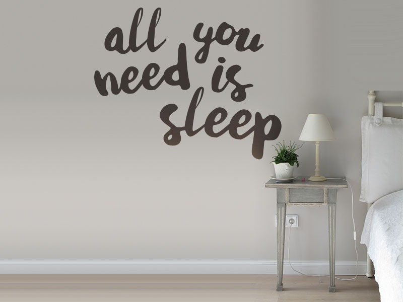 All You Need Is Sleep Bedroom Wall Art