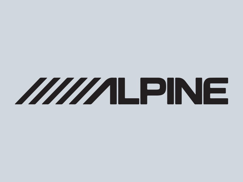 Alpine car stickers