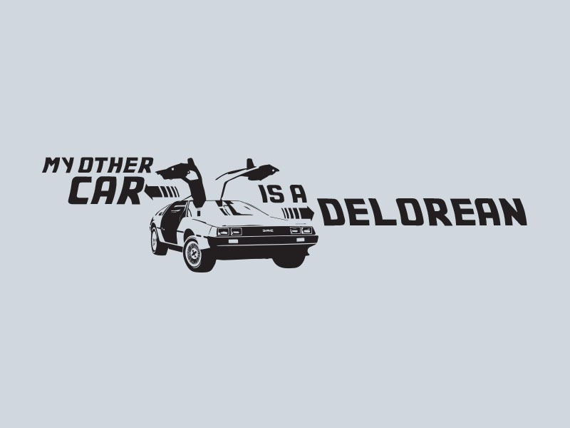 back to the future car stickers
