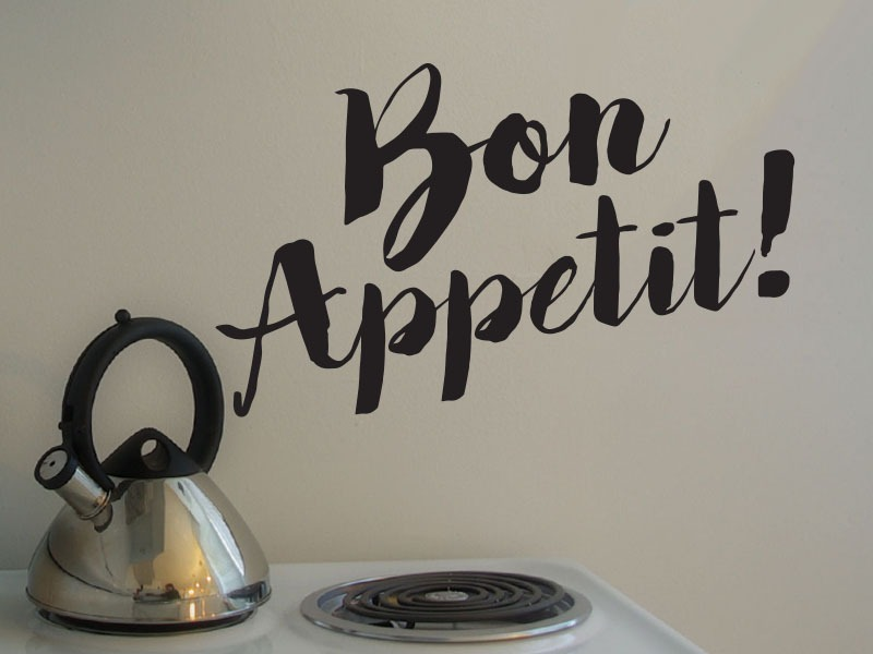 bon appetit kitchen wall lettering