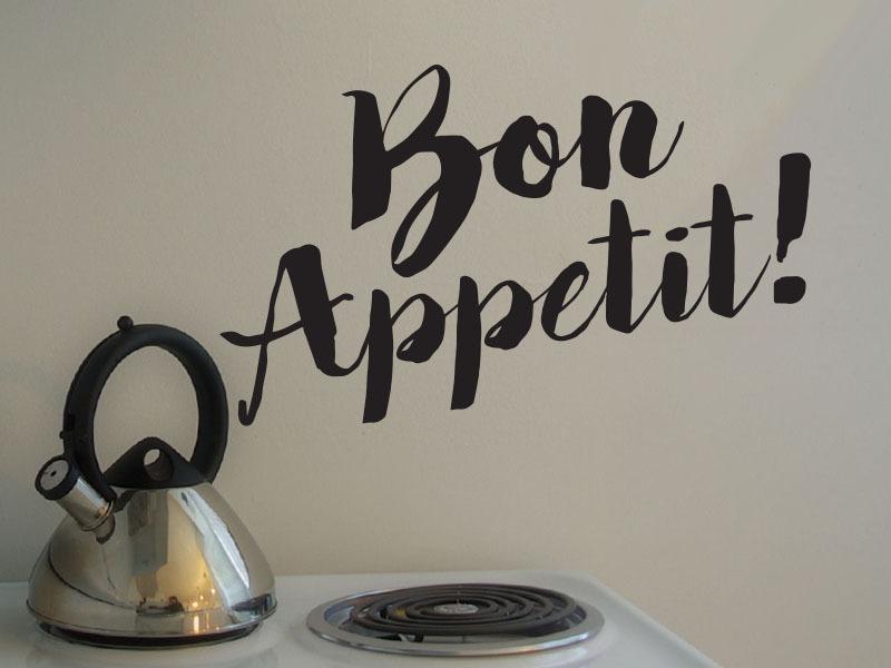 bon appetit kitchen wall lettering