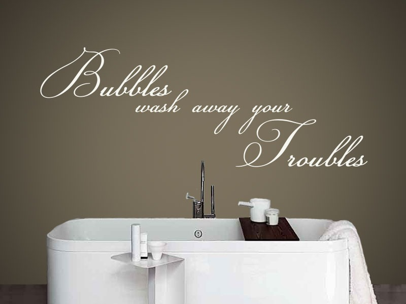 bubbles bathroom wall art