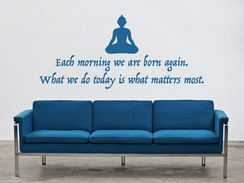 buddha quote wall art