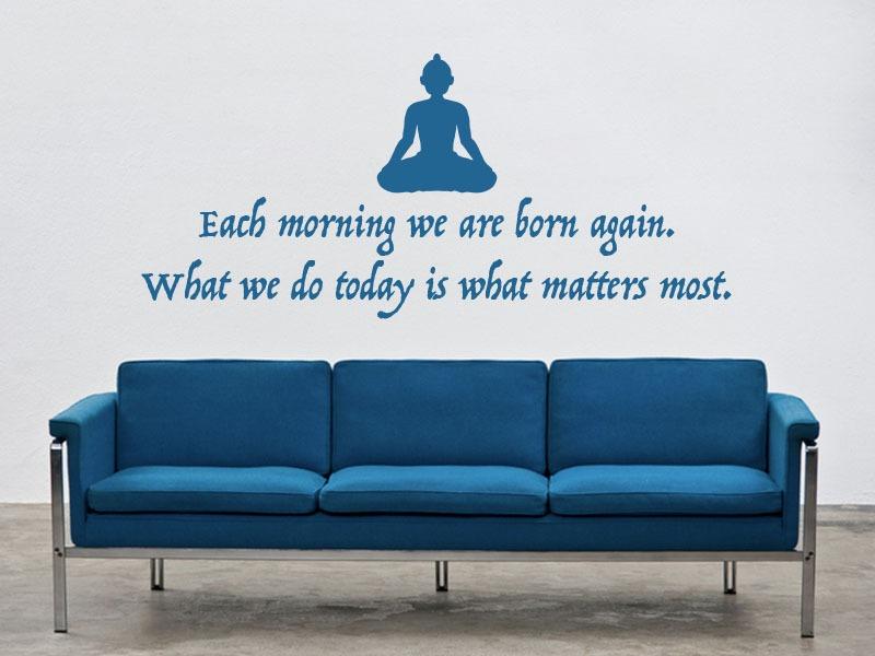 buddha quote wall art
