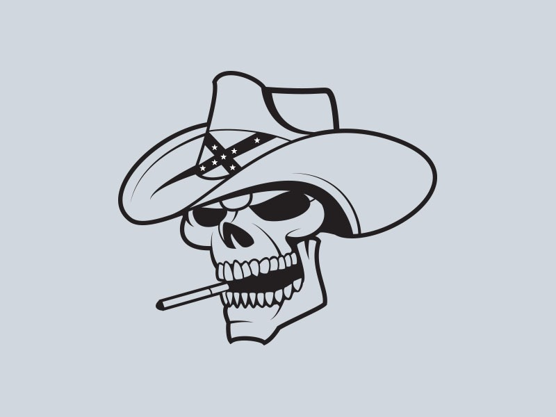 cowboy skull vinyl stickers