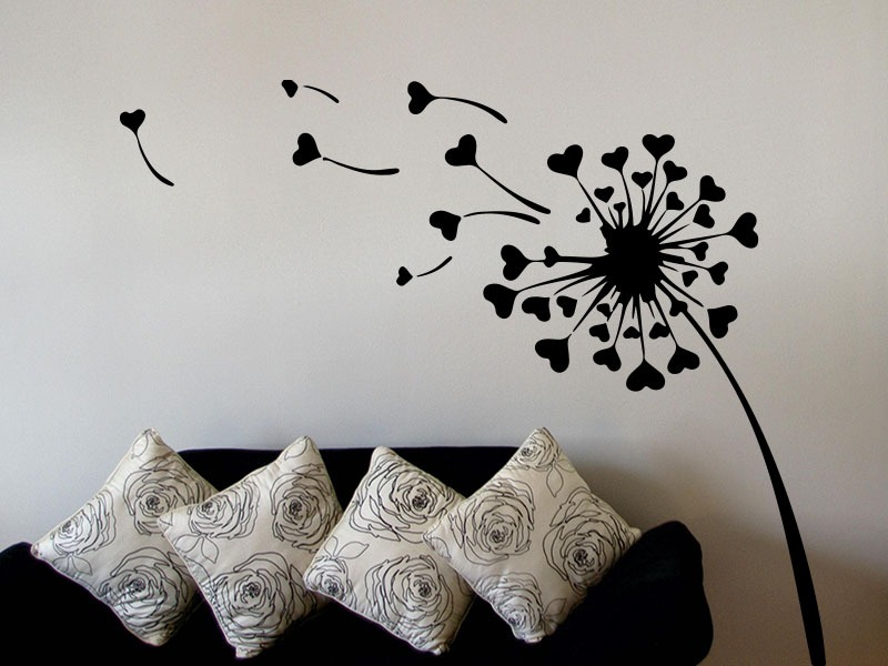 dandelion love heart wall art