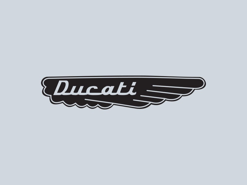 ducati wings motorcycle stickers