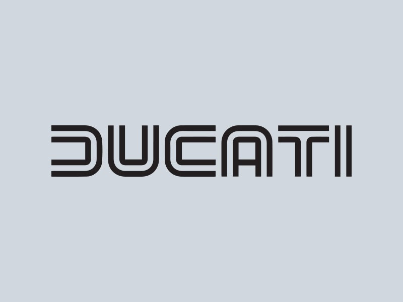 ducati wordmark motorcycle stickers