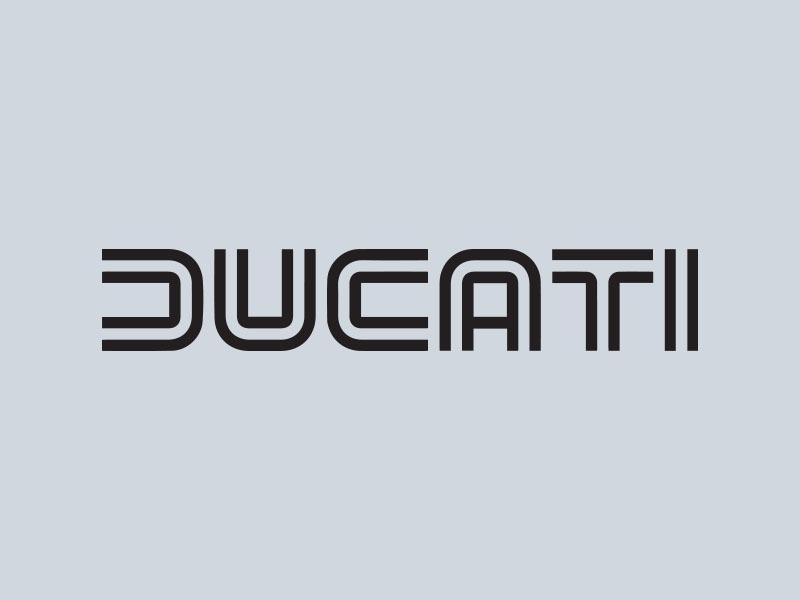 ducati wordmark motorcycle stickers