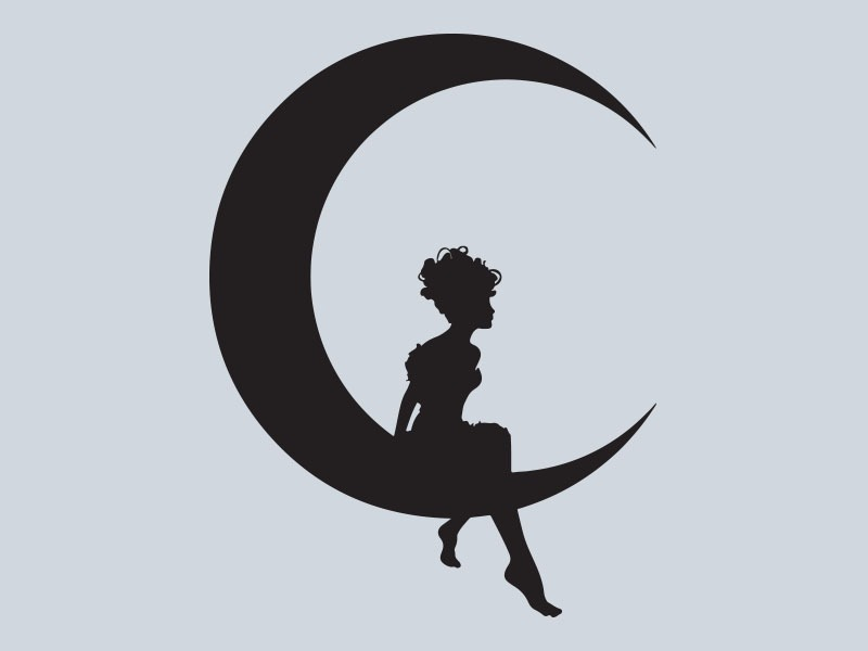 fairy moon car stickers
