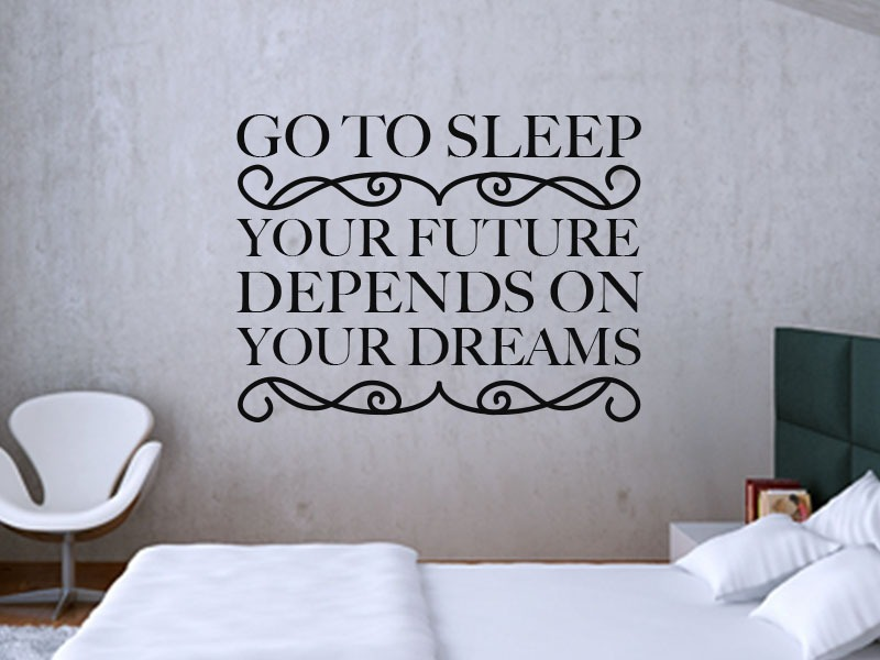 go to sleep bedroom wall art