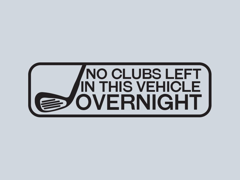 golfing car stickers