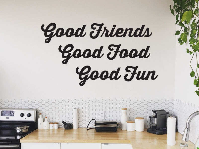 good friends kitchen wall art