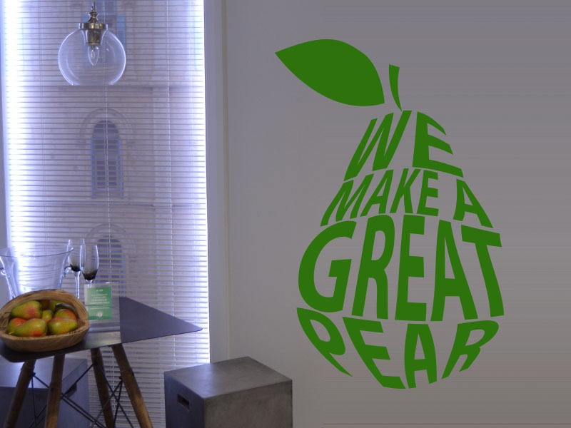 great pear kitchen wall art