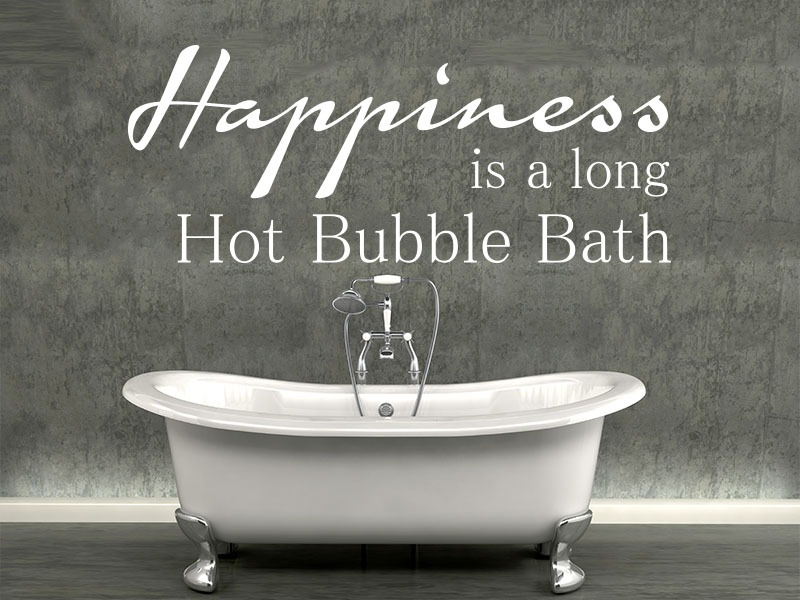 happiness bathroom wall art