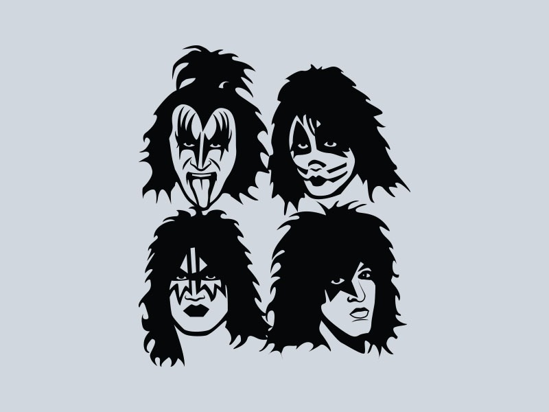 kiss vinyl stickers