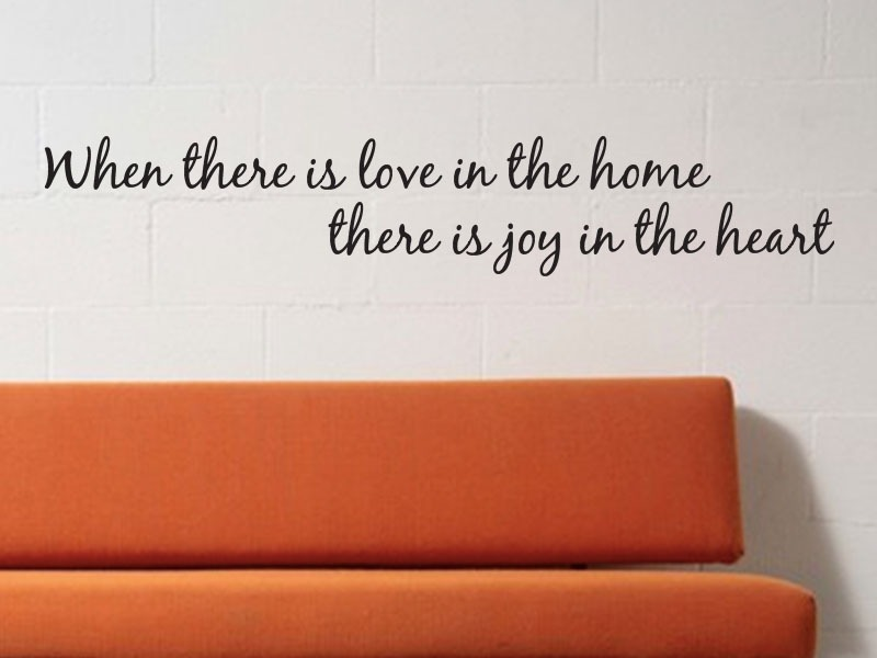 love in the home wall art