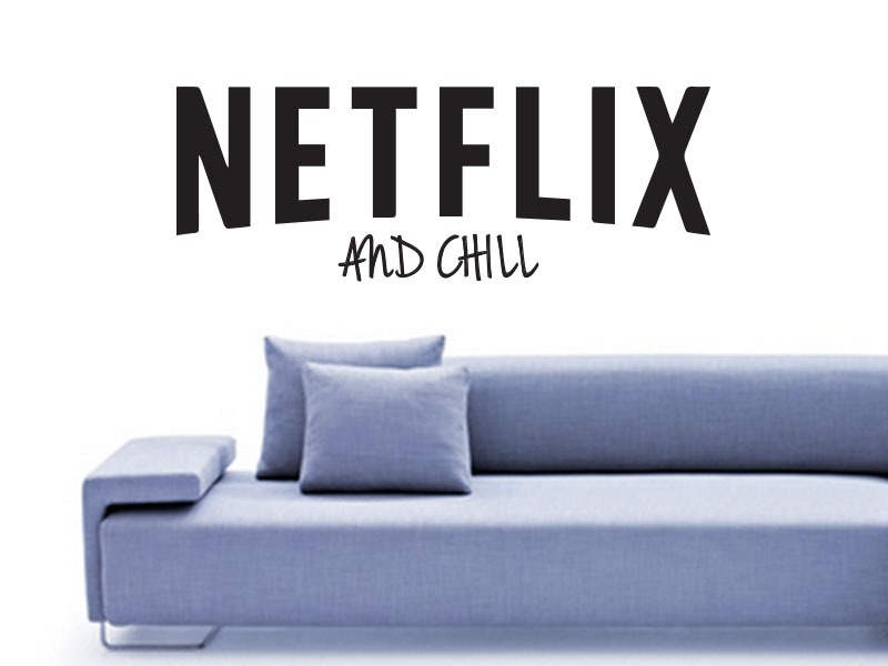 netflix and chill wall art