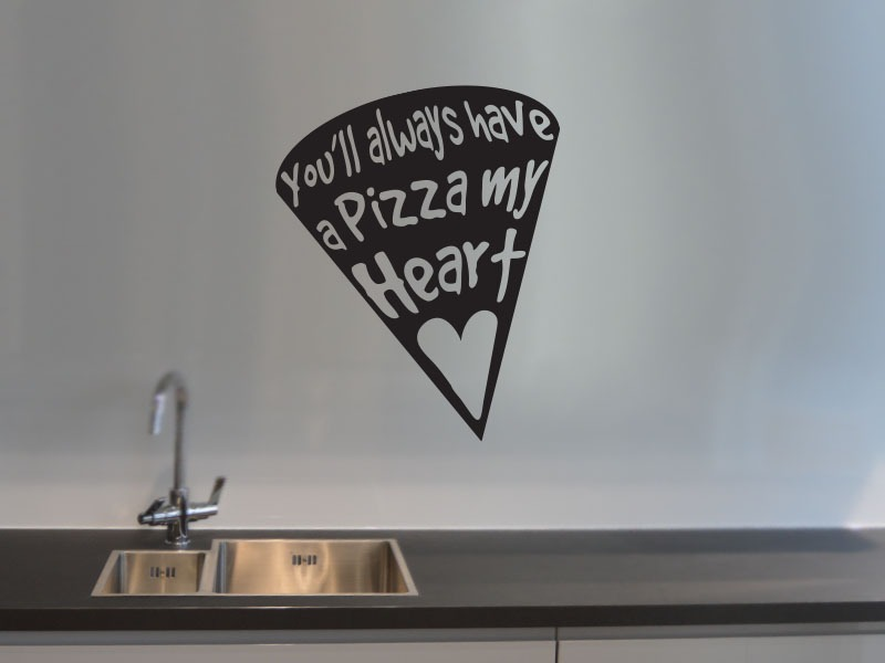 pizza my heart kitchen wall art