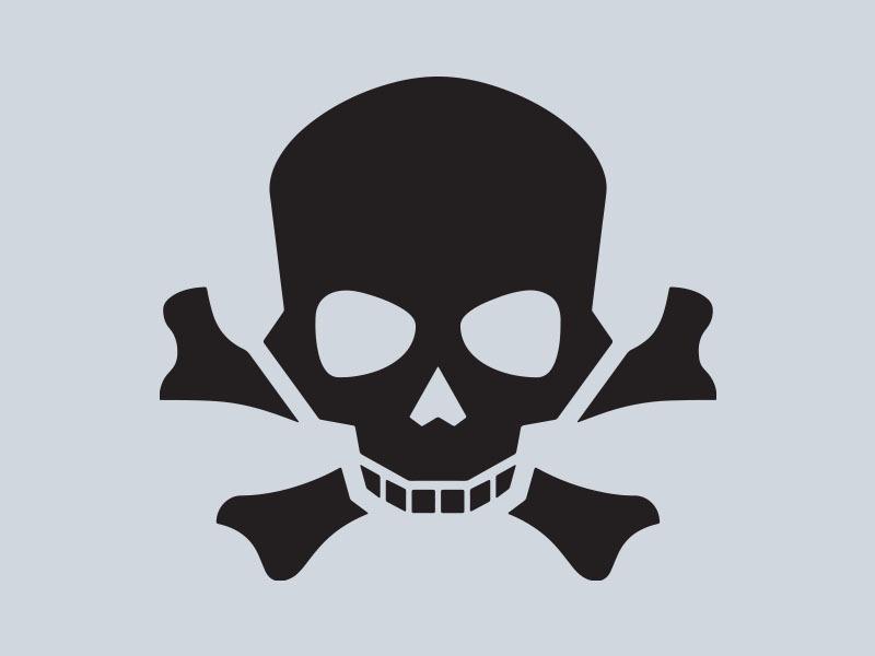 skull and crossbones vinyl stickers