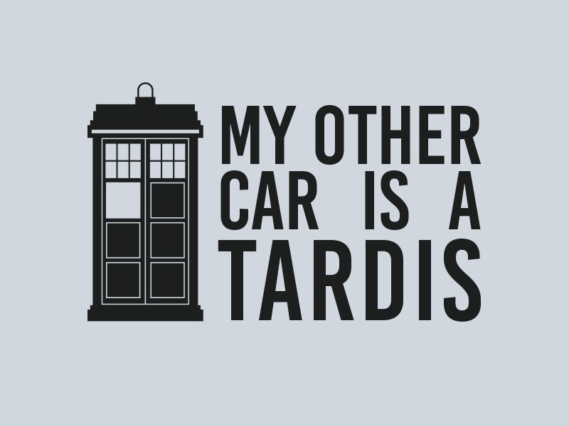 tardis dr who car stickers