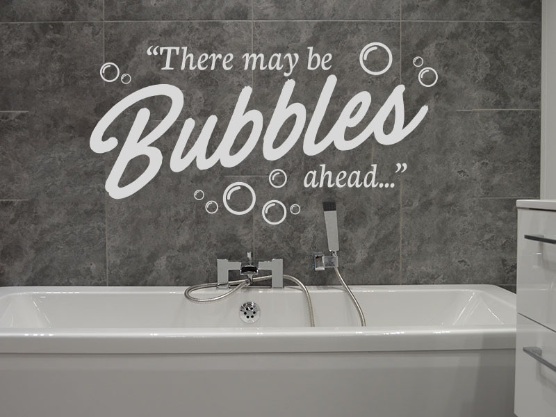 there may be bubbles bathroom wall decals
