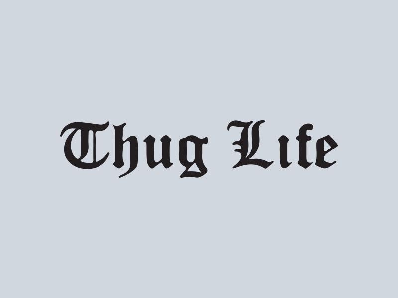thug life car graphics