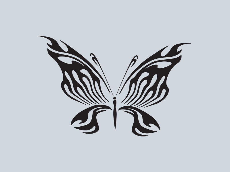 tribal butterfly vinyl stickers 2