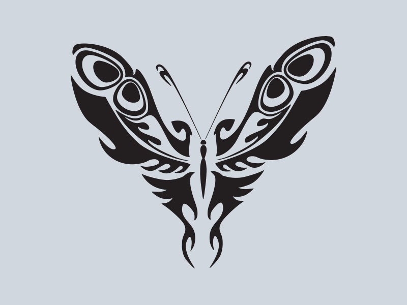 tribal butterfly vinyl stickers 3