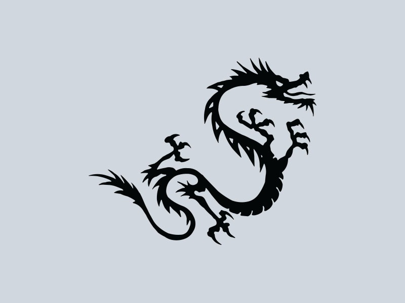 tribal dragon car graphics 4