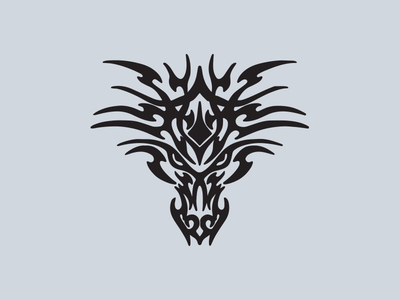 tribal dragon head car stickers