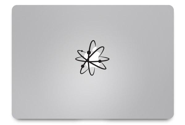 atom macbook sticker