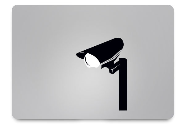 cctv macbook sticker