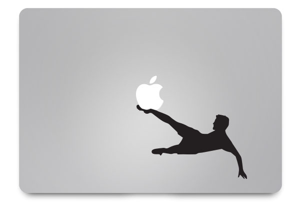 footballer macbook sticker
