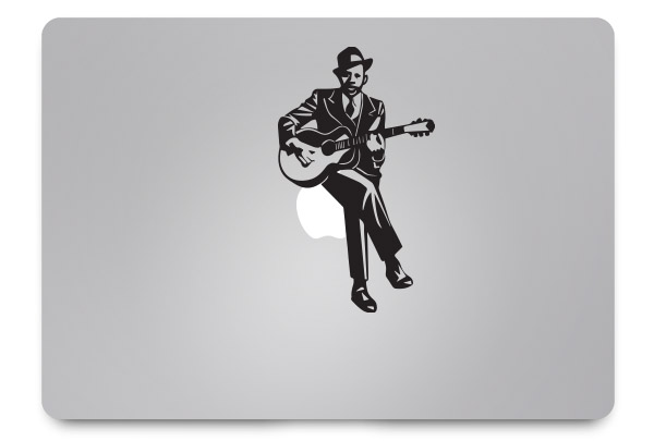 guitarist macbook sticker