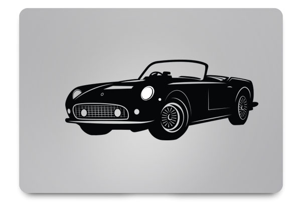 sports car macbook sticker