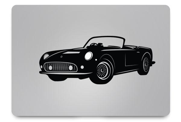 sports car macbook sticker